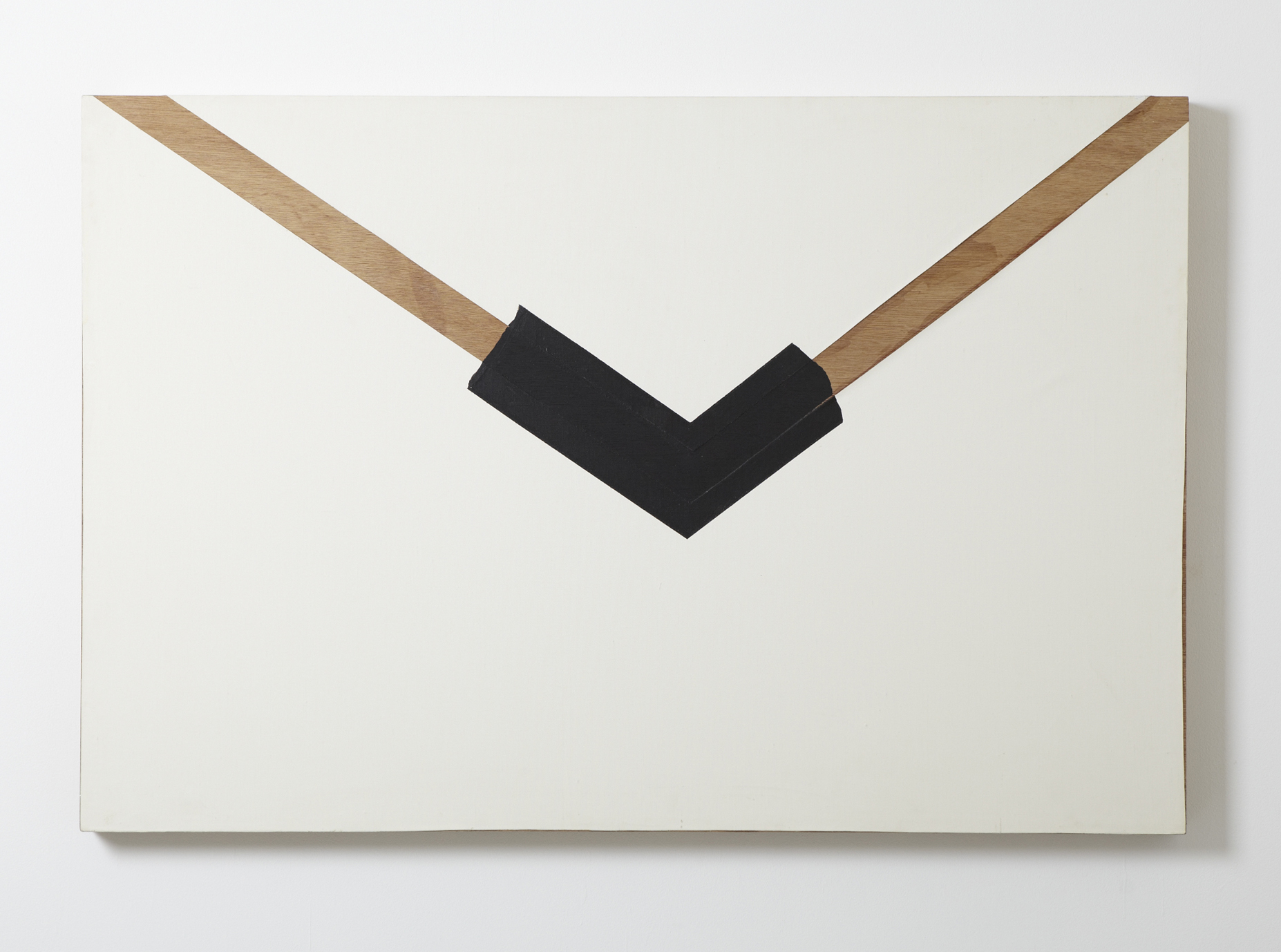 Protrusion.781 , 1981 Wood, acrylic, canvas 35 7/8 x 53 1/2 x 2 1/2 inches 91 x 136 x 6.5 cm