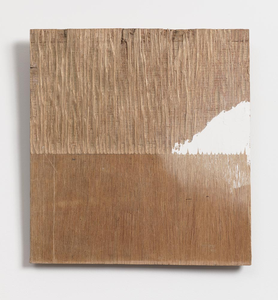 Supplemented Material—48 , 1984 補われた素材—48 ( Oginawereta sozai—48 ) Wood, putty 15 1/2 x 14 9/16 x 1 inches 39.3 x 37 x 2.4 cm