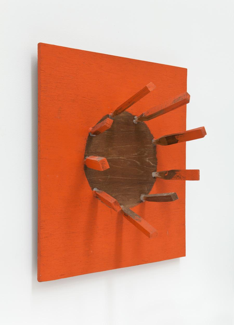 Center of Edge 921 , 1992 端の中央 921 ( Tan no Chūō 921 ) Wood, acrylic 23 5/8 x 21 5/8 x 8 5/8 inches 60 x 55 x 22 cm