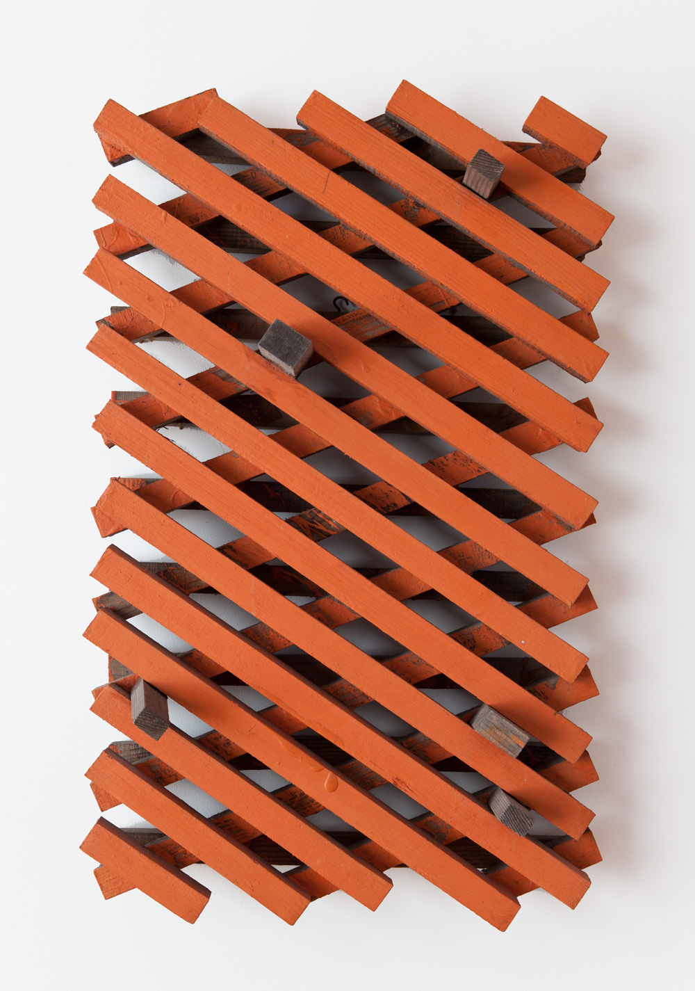 Between the Branches , 1999 樹枝境間 ( Jushi Kyōkan ) Wood, acrylic 31 x 18 1/2 x 6 5/8 inches 79 x 47 x 17 cm