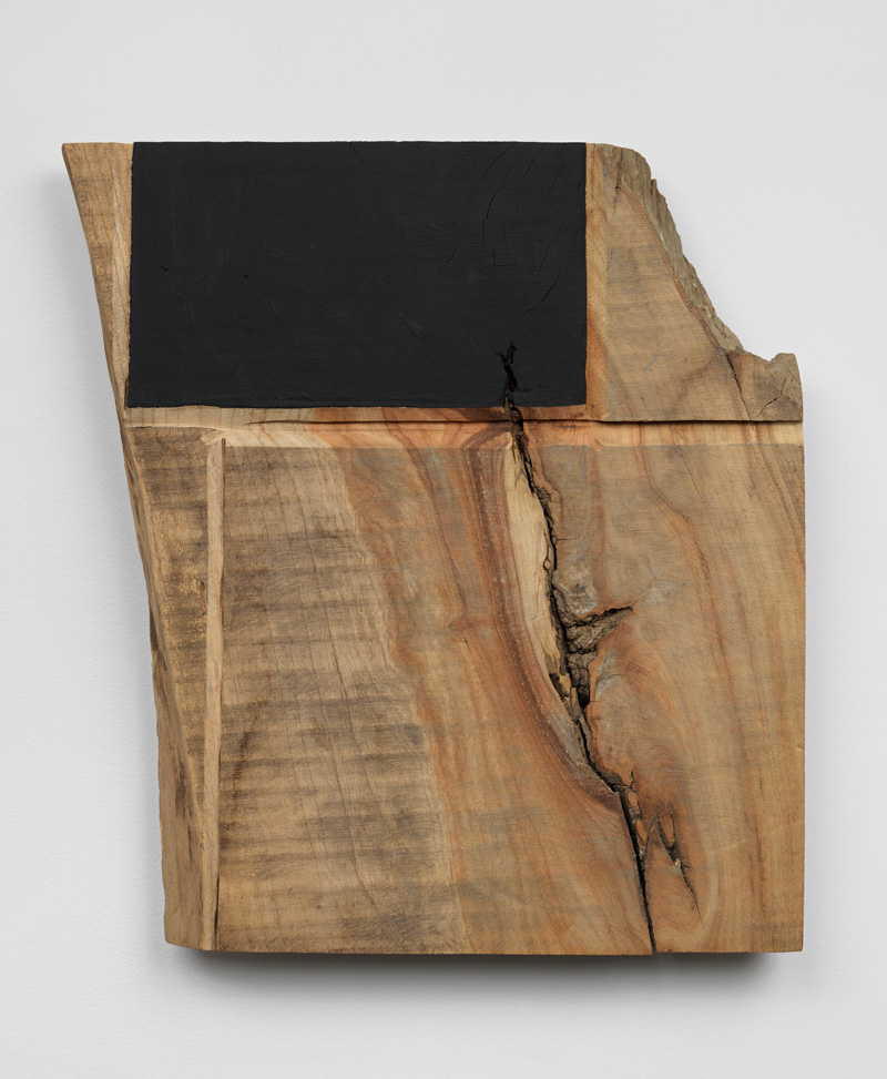 Verges of Distant Scenery , 1998 辺端景遠 ( Hentan Keien ) Wood, water-based paint 18 1/2 x 17 3/8 x 2 3/16 inches 47 x 44 x 5.5 cm