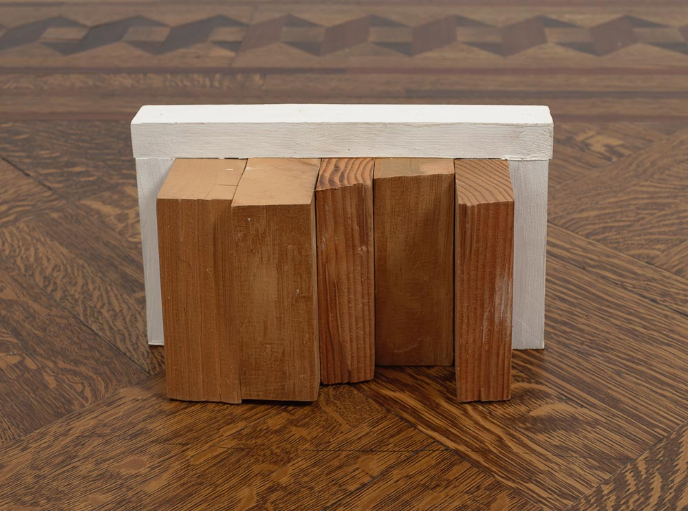 Law of Scenery and Space – 944 , 1994 景間律 – 944 ( Keikanritsu – 944 ) Wood, paint 7 7/16 x 12 1/4 x 6 1/8 inches 18.8 x 31 x 15.5 cm