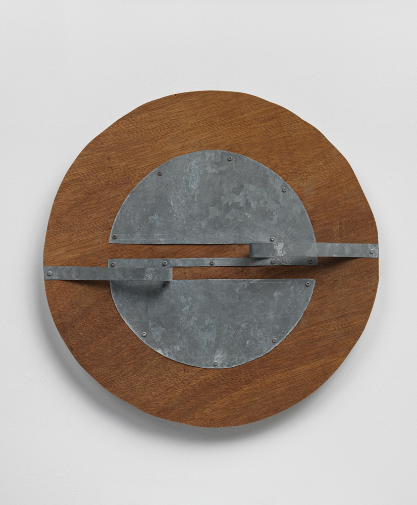 Distant Circulation , 1990 遠周 ( Enshū ) Wood, zinc 16 9/16 x 16 1/2 x 1 13/16 inches 42 x 41.8 x 4.6 cm