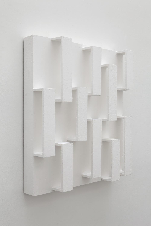 Boundaries and Space in Equivalent Transition , 1992 等過境空 ( Dōka Kyōkū ) Wood, paint 39 1/4 x 35 1/2 x 8 1/8 inches 99.7 x 90.2 x 20.6 cm