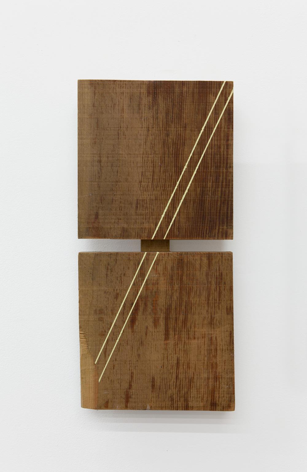 Corresponding , 2005 相置体 ( Sōchitai ) Wood, acrylic 16 3/8 x 7 5/8 x 2 3/4 inches 41.5 x 19.5 x 7 cm