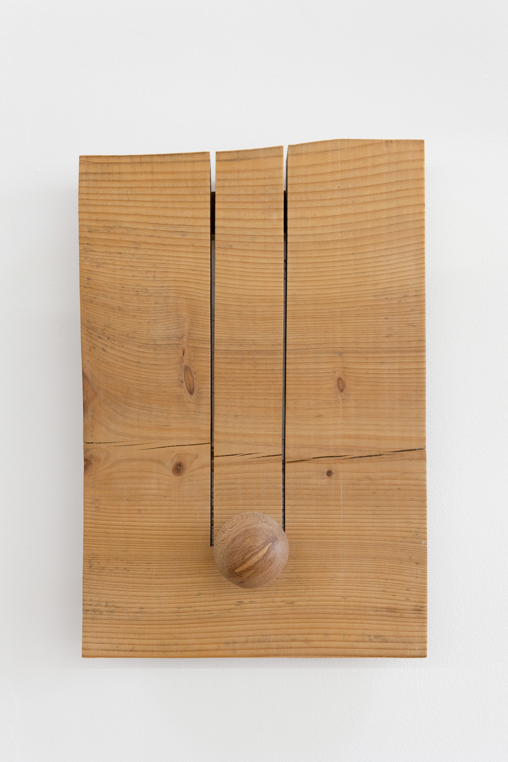 Site in Space , 2005 空間場 ( Kūkanba ) Wood 16 3/4 x 11 x 5 1/2 inches 42.5 x 28 x 14 cm