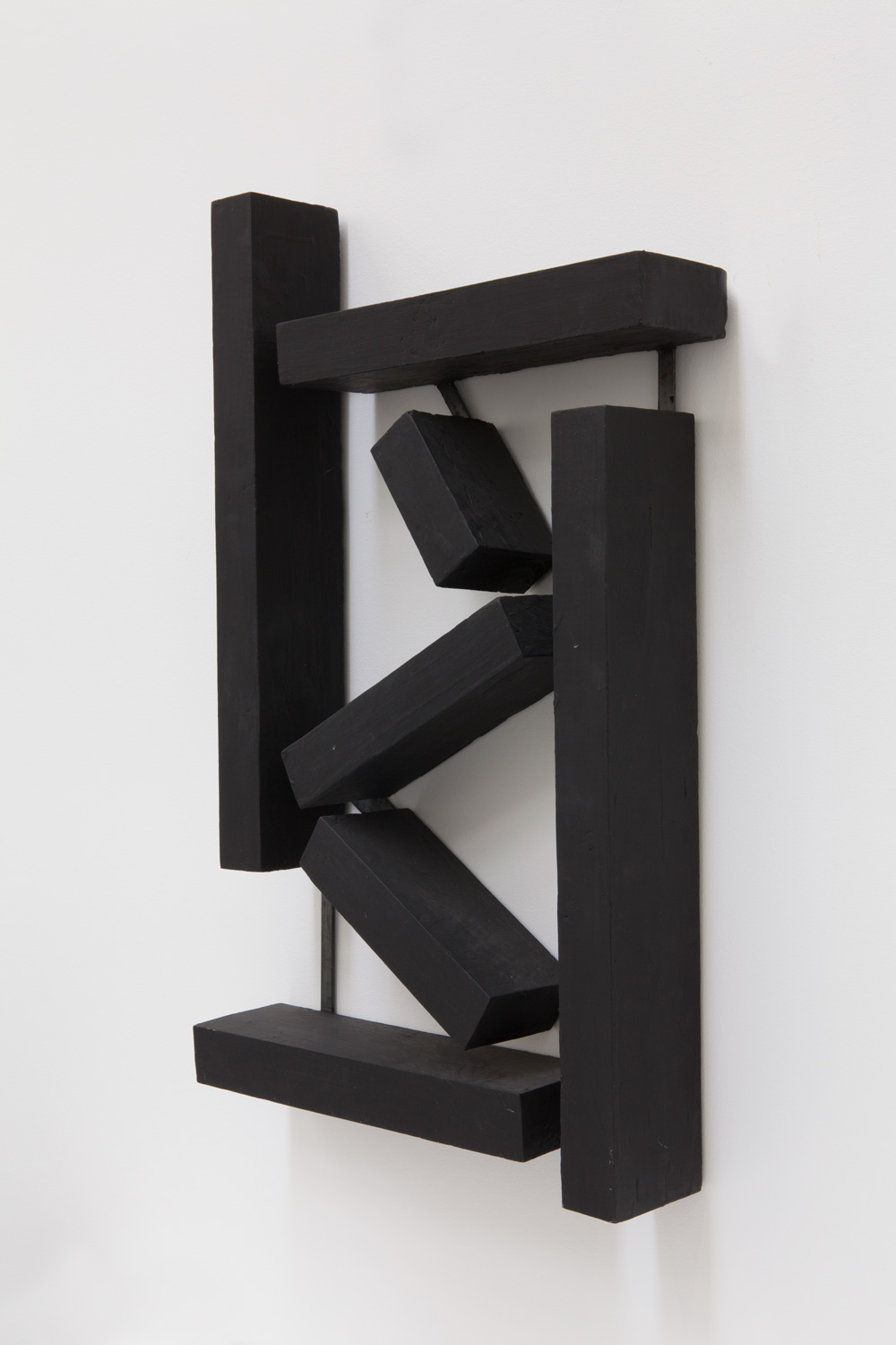 Incomplete Structure , 2005 不完構 ( Fukankō ) Wood, acrylic 26 x 15 15/16 x 3 3/4 inches 66 x 40.5 x 9.5 cm