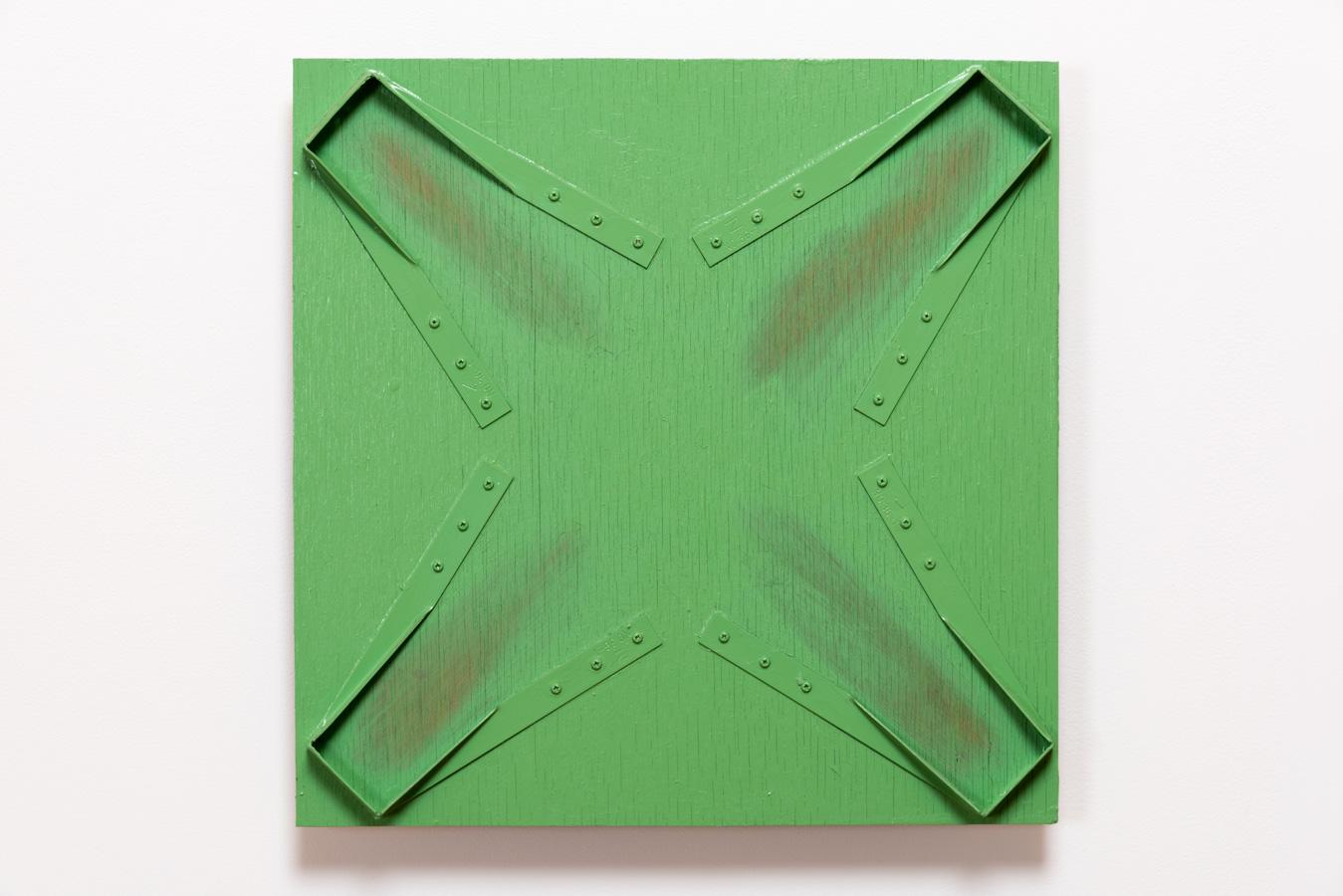 Multiple Directions , 2006 多向様中 ( Takōyōchū ) Wood, steel, acrylic 15 3/4 x 15 3/4 x 2 1/2 inches 40 x 40 x 6.5 cm