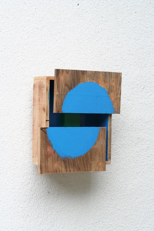 Corresponding Space , 2008 間化静合 ( Kanka Seigō ) Plywood, paint 13 x 14 x 5 1/2 inches 33 x 35.5 x 14 cm