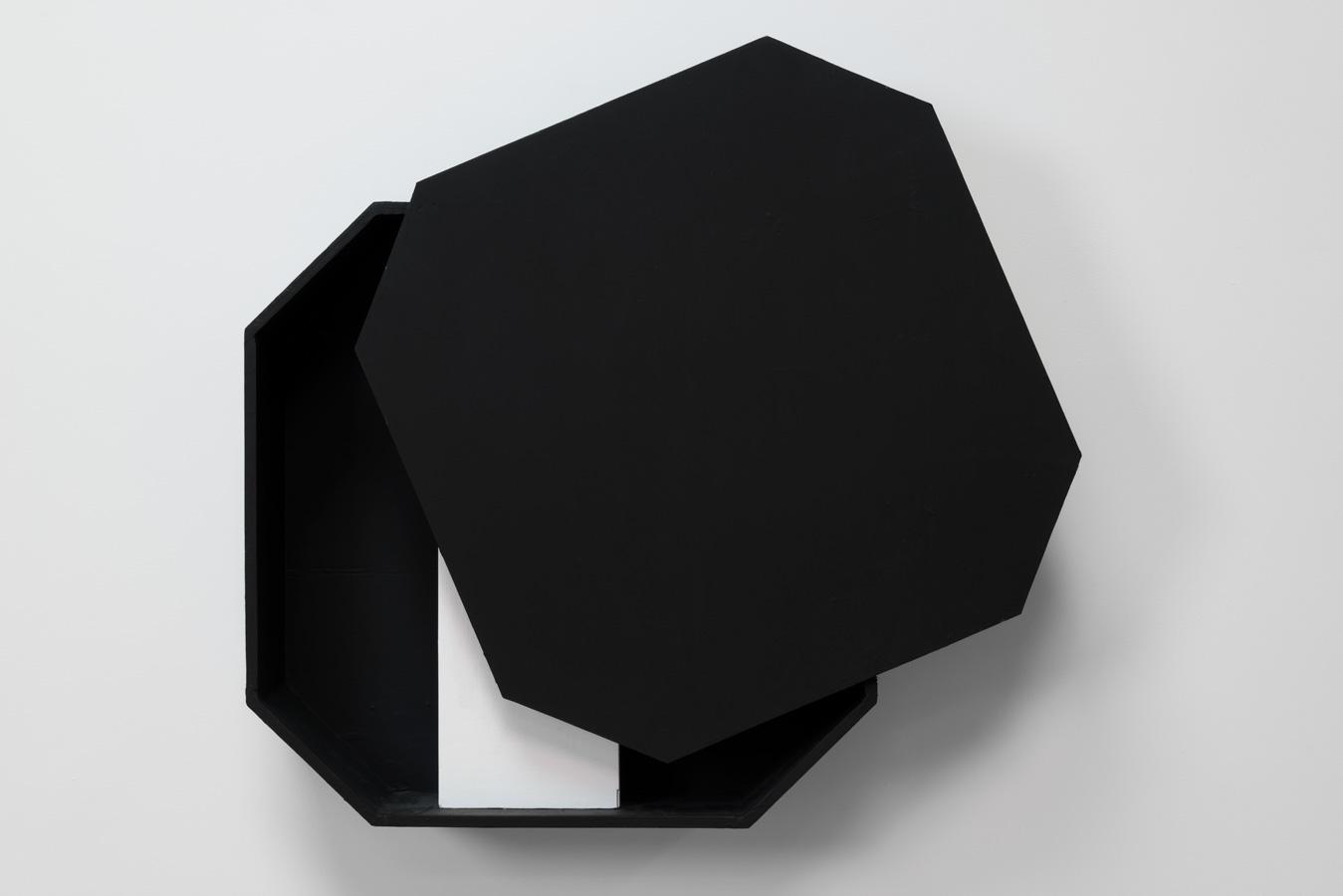 Occupied Interior , 2008 占内有間 ( Sennai Yūkan ) Plywood, paint 32 5/8 x 31 1/8 x 7 1/2 inches 83 x 79 x 19 cm