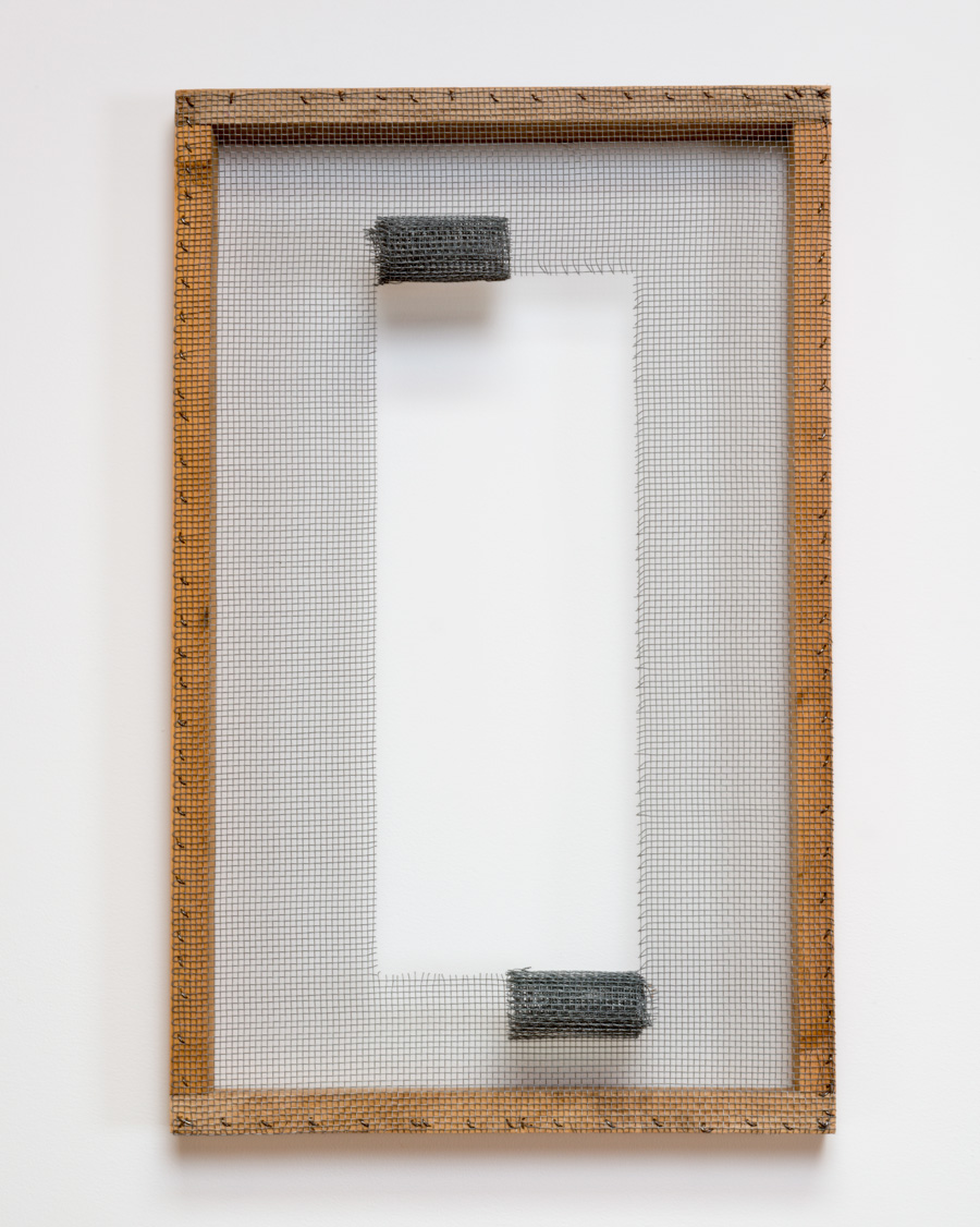 Orientations of Open Space , 2009 志向開空 (Shikō Kaikū) Wood, wire mesh 26 3/8 x 16 1/2 x 3 15/16 inches 67 x 42 x 10 cm