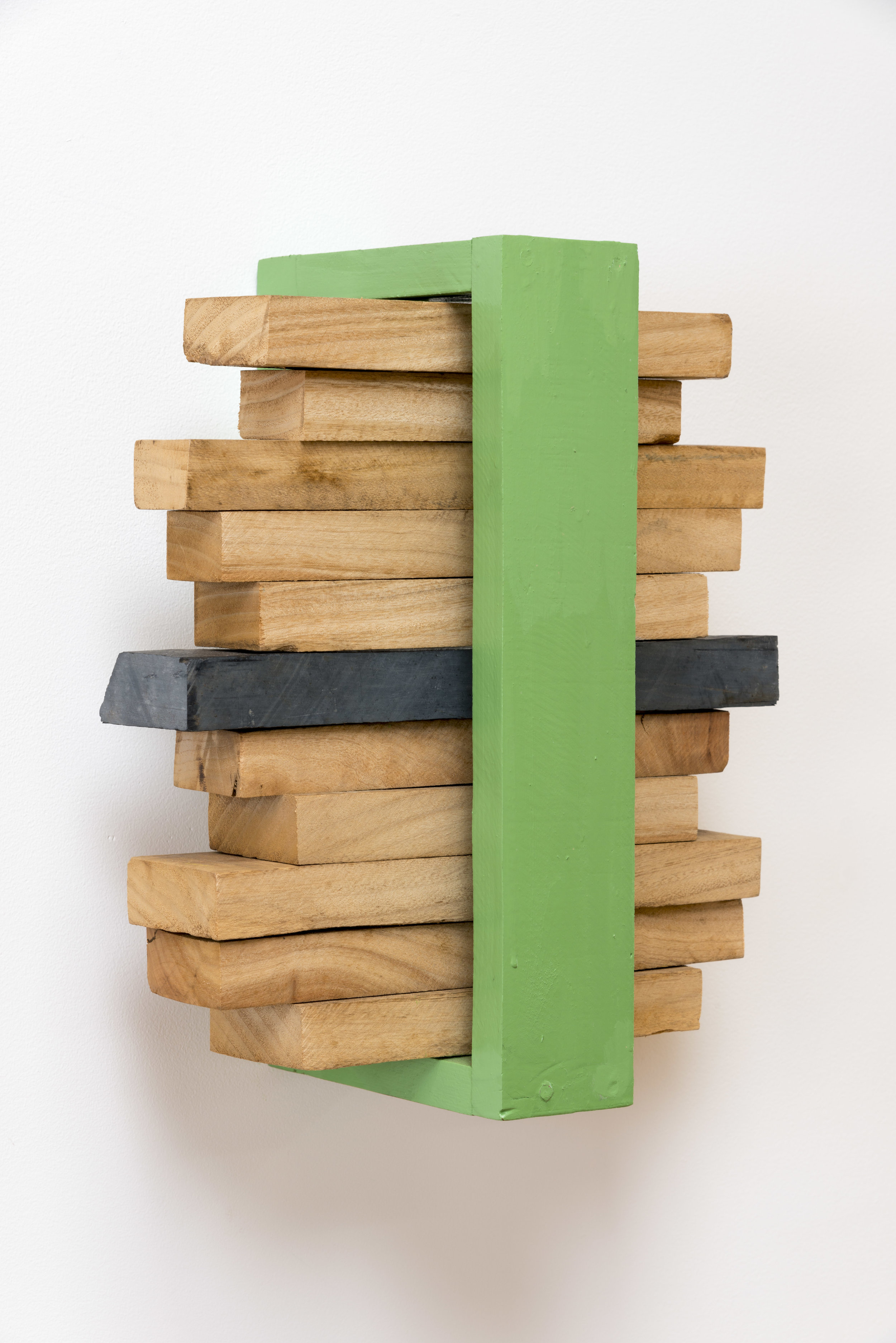 Stack of Space , 2001-2002 界積性 ( Kaisekisei ) Wood, water-based paint 13 3/4 x 11 13/16 x 6 5/8 inches 35 x 30 x 17 cm