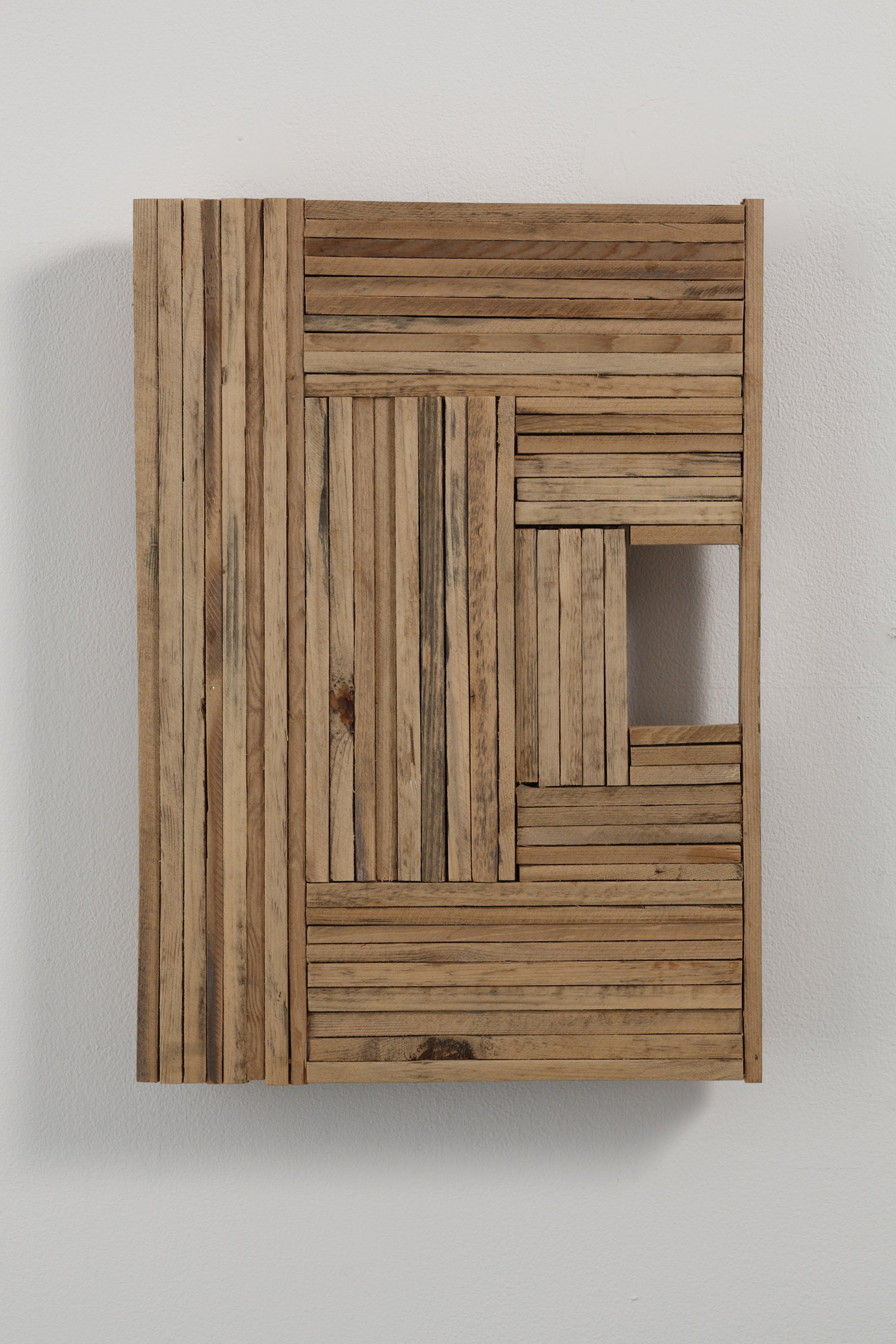 State of Gathered Space , 2001-2002 多空体 ( Takūtai ) Wood 17 3/4 x 12 1/2 x 2 15/16 inches 45 x 32 x 7.5 cm