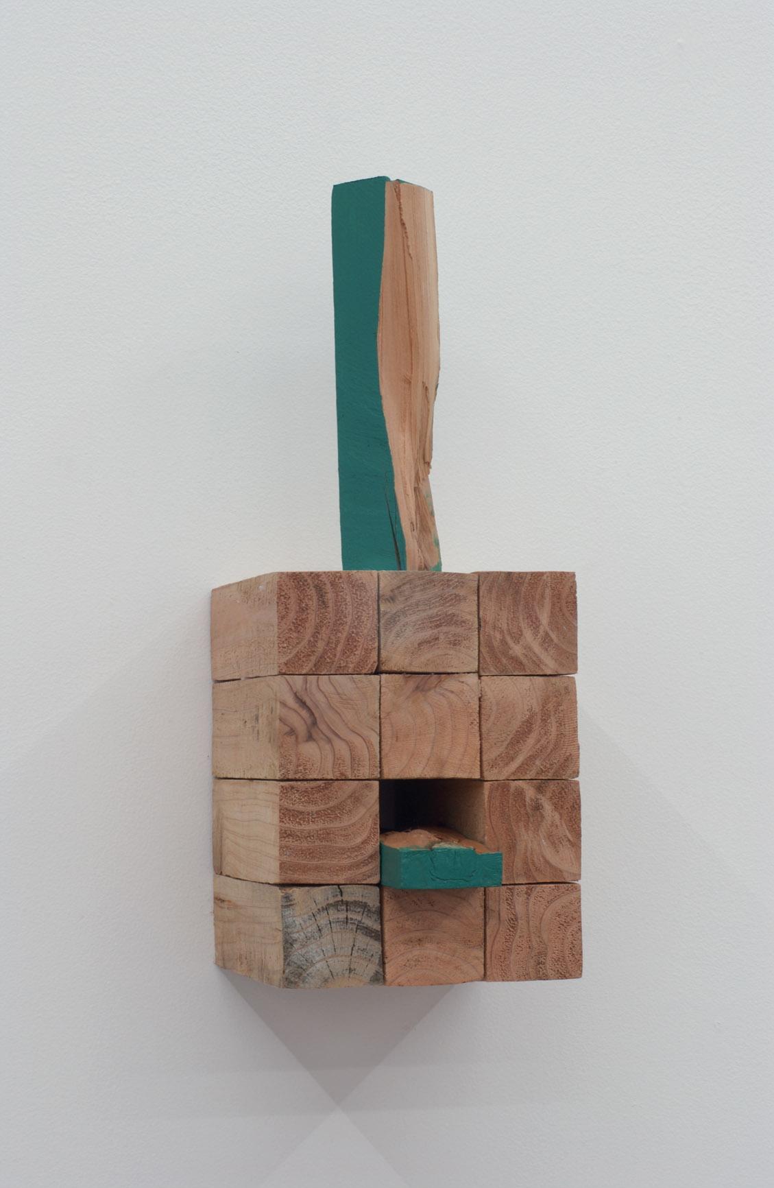 Polysemy , 2006 多義性 ( Tagisei ) Wood, water-based paint 14 1/8 x 5 3/8 x 5 7/8 inches 36 x 13.5 x 15 cm