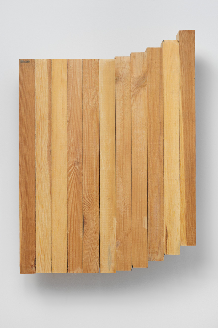 Upward Divergence , 2007 上方分岐 ( Jōhō Bunki ) Wood 17 7/8 x 12 7/8 x 3 1/8 inches 45.3 x 32.6 x 7.8 cm