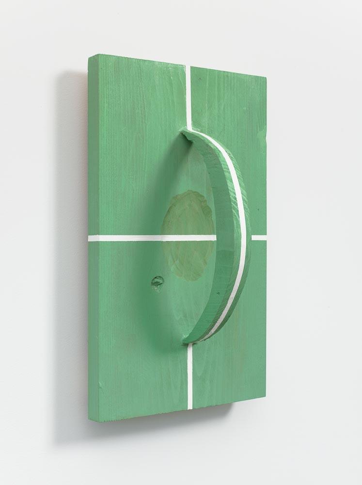 Spatial Transcendence , 2006 空越 ( kūetsu ) Wood, paint 18 3/4 x 11 9/16 x 7 1/8 inches 47.6 x 29.3 x 18.1 cm