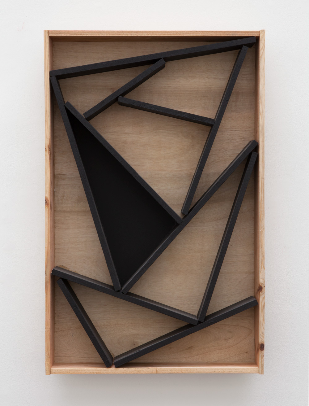 Demarcated Existence , 2016 境在 (Kyōzai) Wood, paint 35 1/2 x 22 3/4 x 5 1/2 inches  90.2 x 57.8 x 14 cm