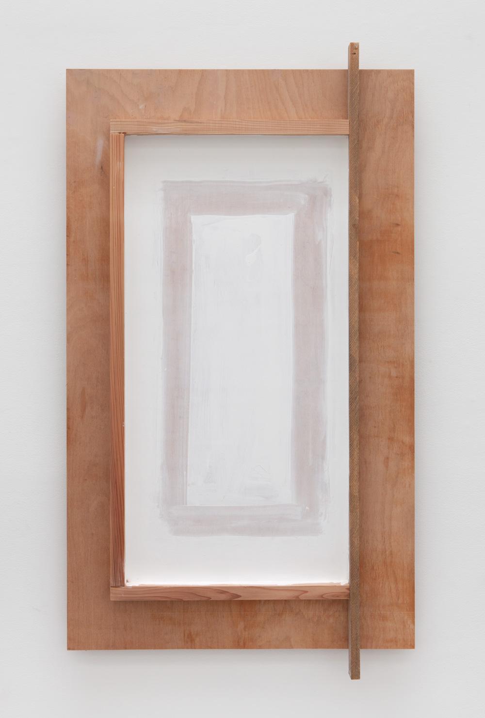 Law of Internal Latencies , 2015 内潜律 ( Naisenritsu ) Wood, paint 63 5/8 x 35 3/8 x 4 inches 161.6 x 89.9 x 10.2 cm