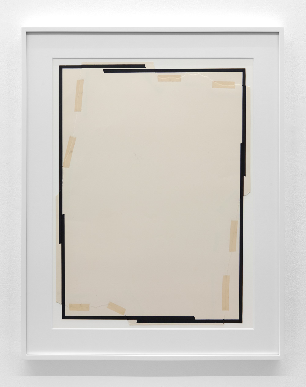 Lateral Space 074 , 1974 Magic marker and tape on paper 27 15/16 x 20 3/4 inches  71 x 52.7 cm