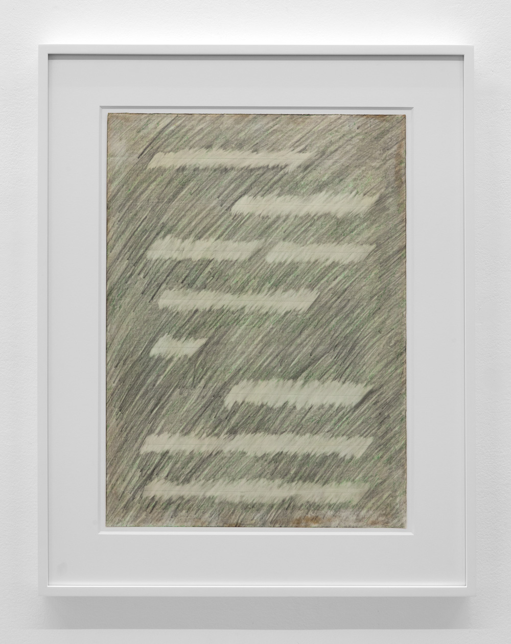 Progressive Placement , 1975 Pencil and pastel on paper 21 5/8 x 15 3/4 inches  54.9 x 40 cm