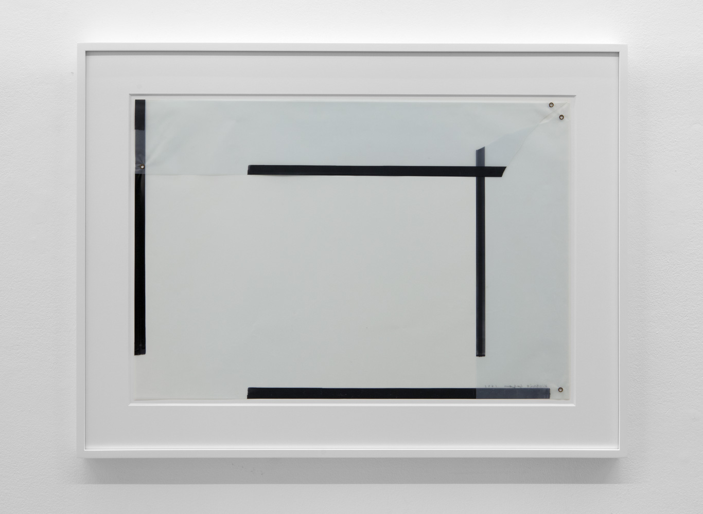 Untitled , 1974 Magic marker and metal on acetate 18 5/8 x 27 1/4 inches  47.3 x 69.2 cm