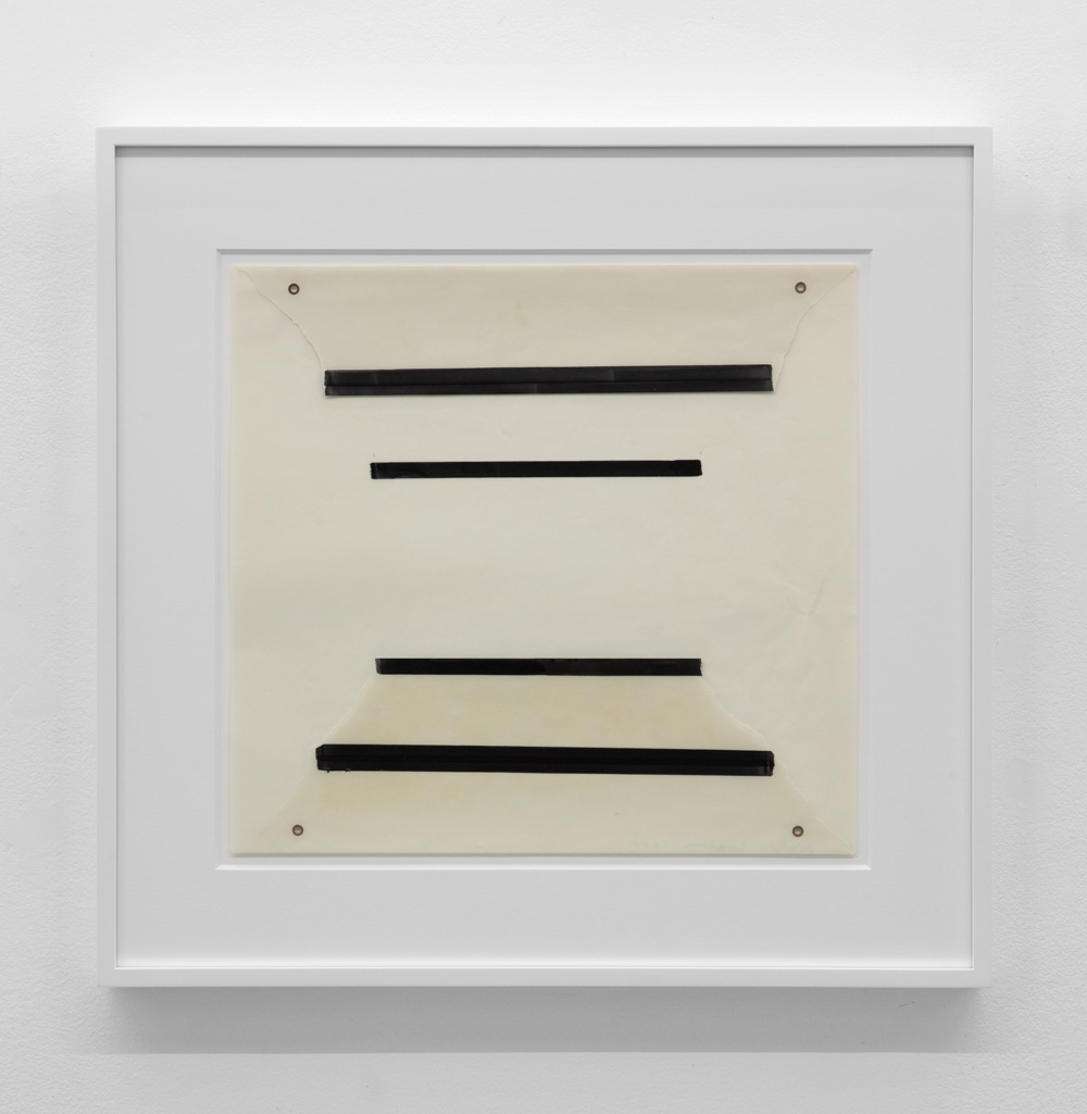 Untitled , 1975 Magic marker and metal on acetate 16 x 17 inches  40.6 x 43.2 cm