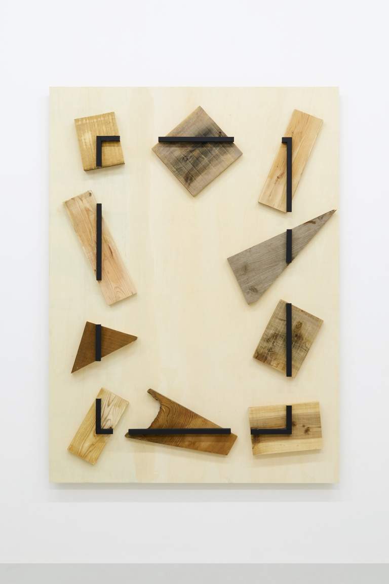 Merged Surrounding , 2018 Wood, acrylic 182.0 x 133.2 x 12.7 cm
