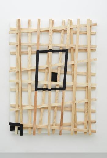 Latent Passage , 2019  Wood, paint 182.5 x 138.0 x 17.4 cm