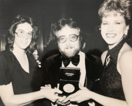 1985, New York City- Henry Celebrates winning the Bronze Medal from theNew York International Film and Television Festival