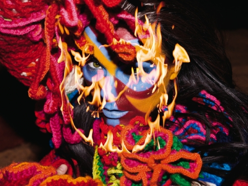 Björk, during the promotional campaign for  Volta