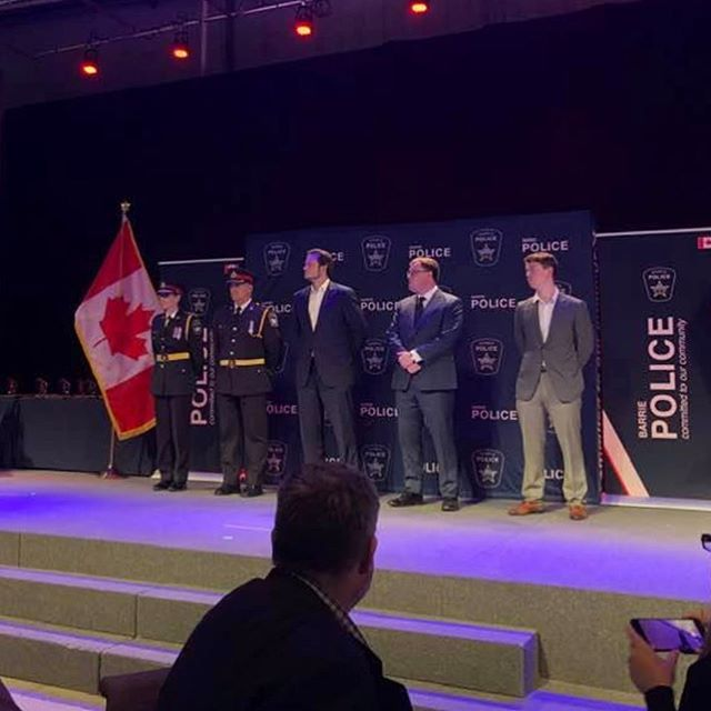 The Barrie Police Service awards where held last night to recognize officers and civilians for their selfless life-saving acts and years of services. Thank you for your continued dedication and contribution to the @barriepolice  Congratulations. #serveandprotect #police #thankyou