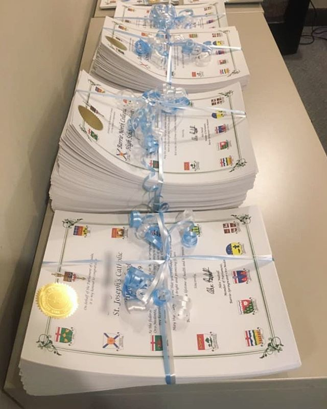 It's that time of year again. High school graduation scrolls have been sent out! Congratulations to all of the hard working graduates in #bsom. I wish you the best of luck in the future 🎓