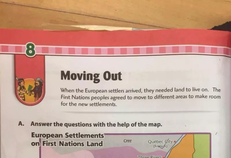 A Canadian textbook which has  since been recalled  after public outcry.