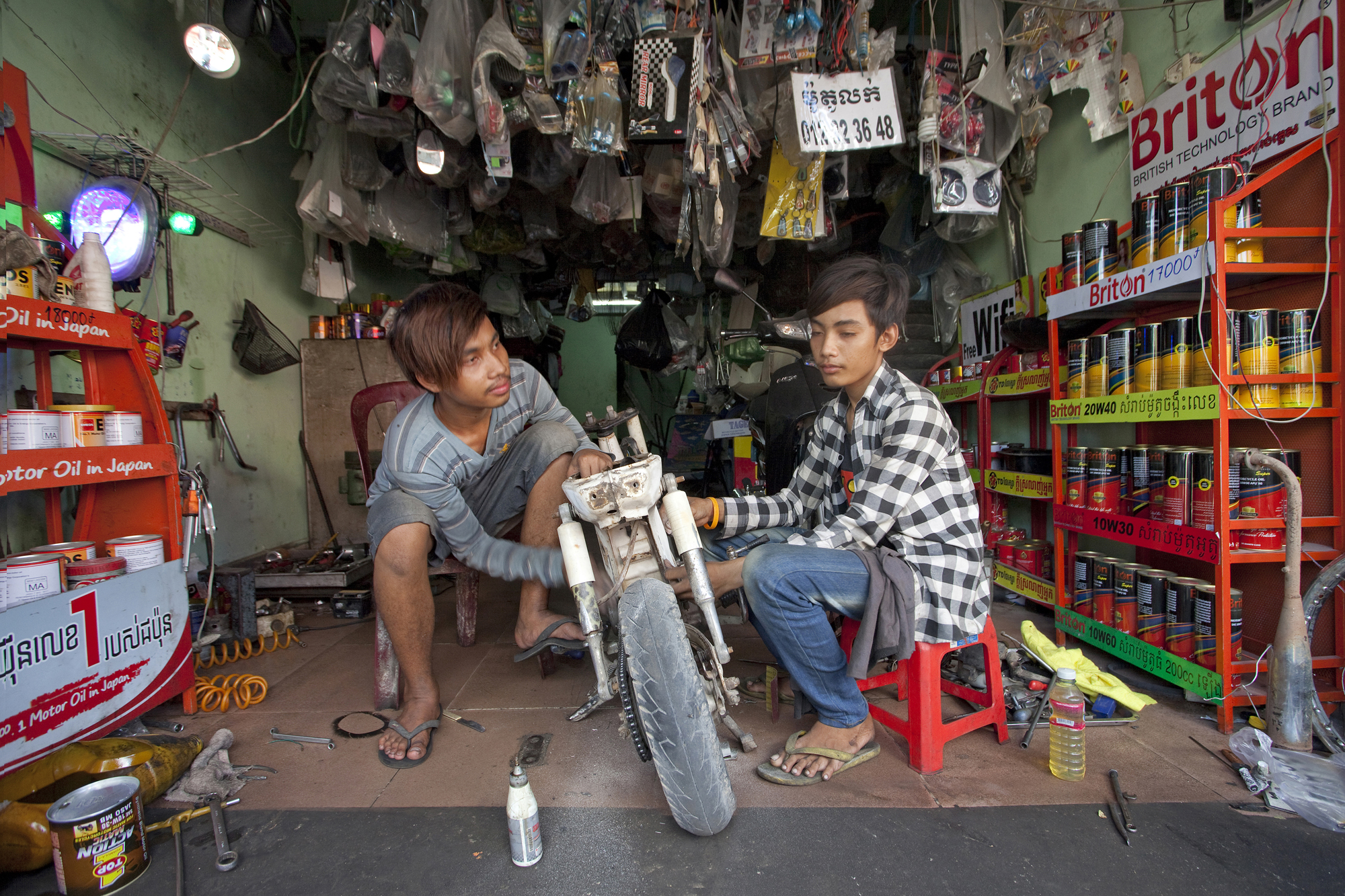 Motorbike Repair, Phnom Penh