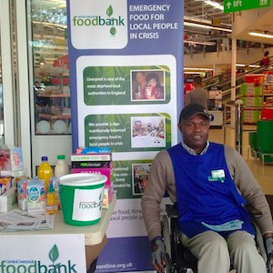 Ayotunde Falana (LSFH) collaborating with Foodbank Liverpool