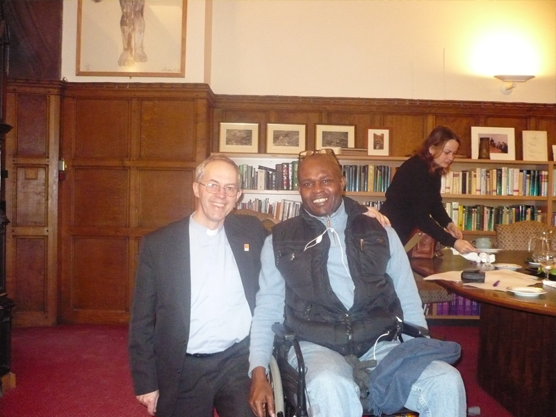 """Ayo Falana (Co-Volunteer Founder & Global Ambassador – LSFH/MAPFest.org) and Justin Welby (The Archbishop of Canterbury) at the LAC for a meeting on """"The Bigger Picture Project""""."""