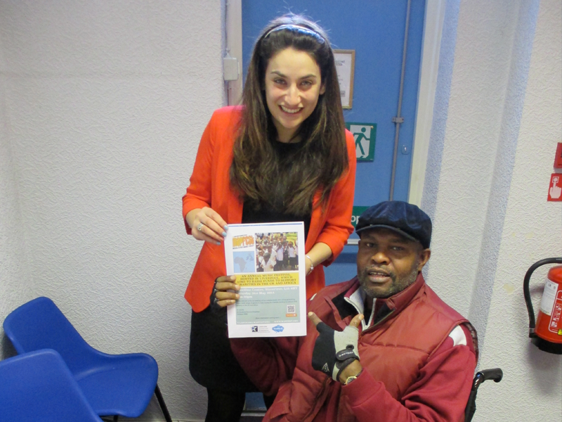 Ayo Falana (Co-Volunteer Founder & Global Ambassador – LSFH/MAPFest.org) and Luciana Berger (MP Wavertree, Liverpool) at the MP's Office Introducing MAPFest.org to the MP.