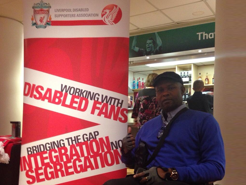 Ayotunde at the LDSA 2014 Event at The Centenary Stand, Anfield.