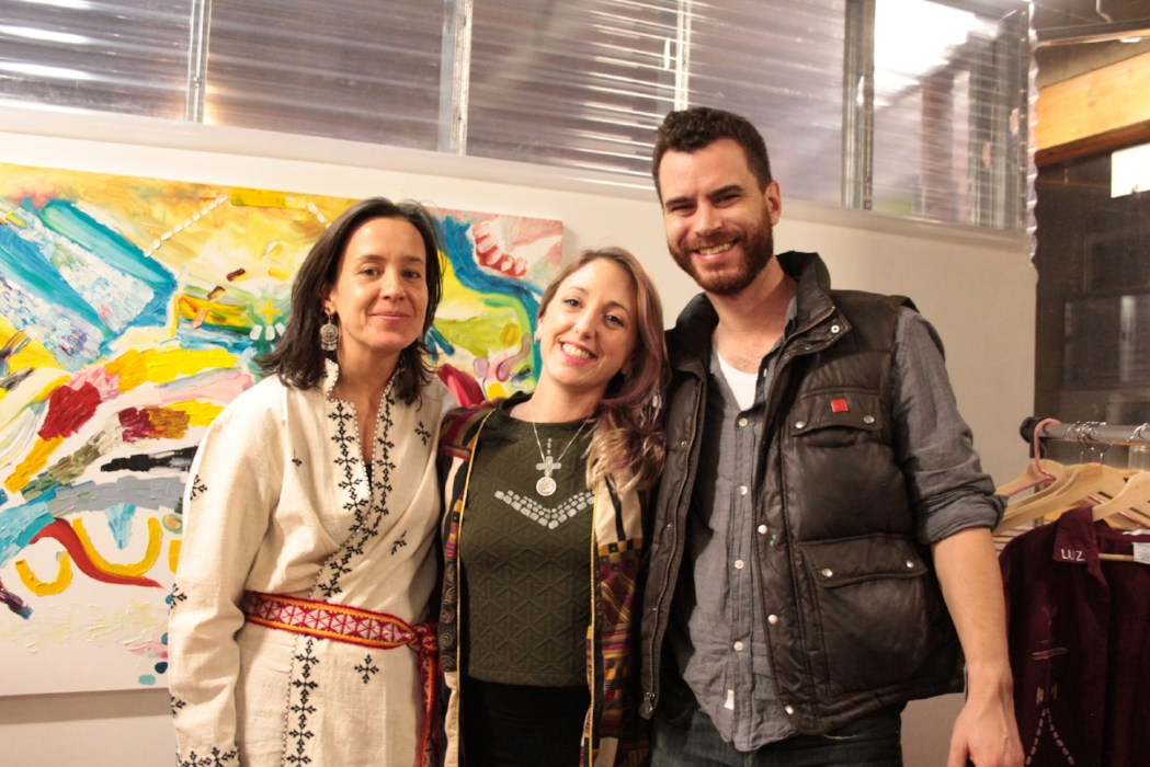 RebeccaSharp, Alexis Honiotes & painter Ian McLaughlin. February 2017.