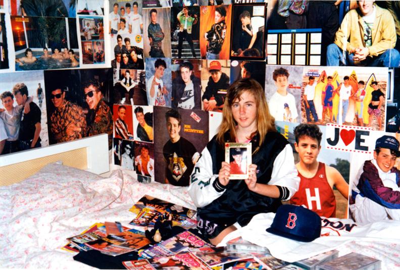 Rebecca at 14_NKOTB posters.jpg