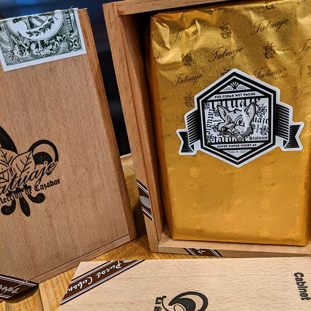 Thank you @foxcigarbar. Always look forward to your mail calls especially when it's these beautiful @tatuajecigars Wet Packs!
