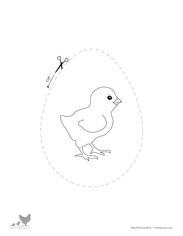 Chick Hatching Cutout