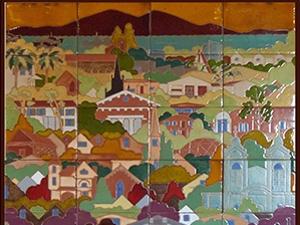 Ceramic Tile Muralist Guillermo Wagner Granizo captures the Benicia landscape. Courtesy: Benicia Historical Museum