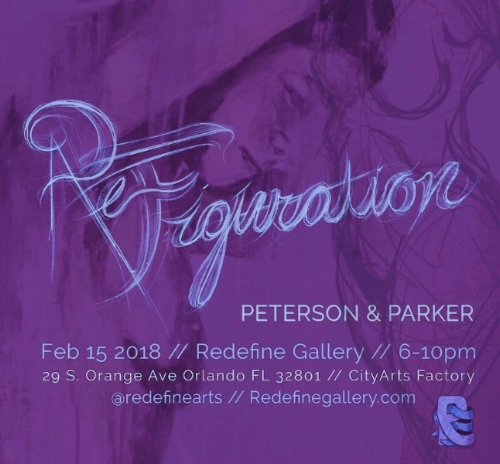 ReFiguration // Human figure art by Peterson and Parker New works that explore the expressive, gestural artistic process of interpreting the human form. Redefine Gallery // FEB 15 2018 // 6-10PM