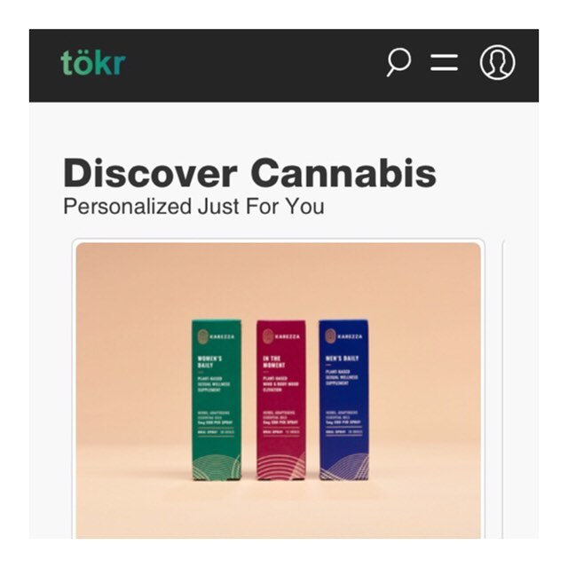 Happy Friday! 🎉 we're celebrating @tokr for featuring Karezza and Life Bloom CBD sprays on their beautiful cannabis discovery app 🙌 go see if there's something for you to discover!