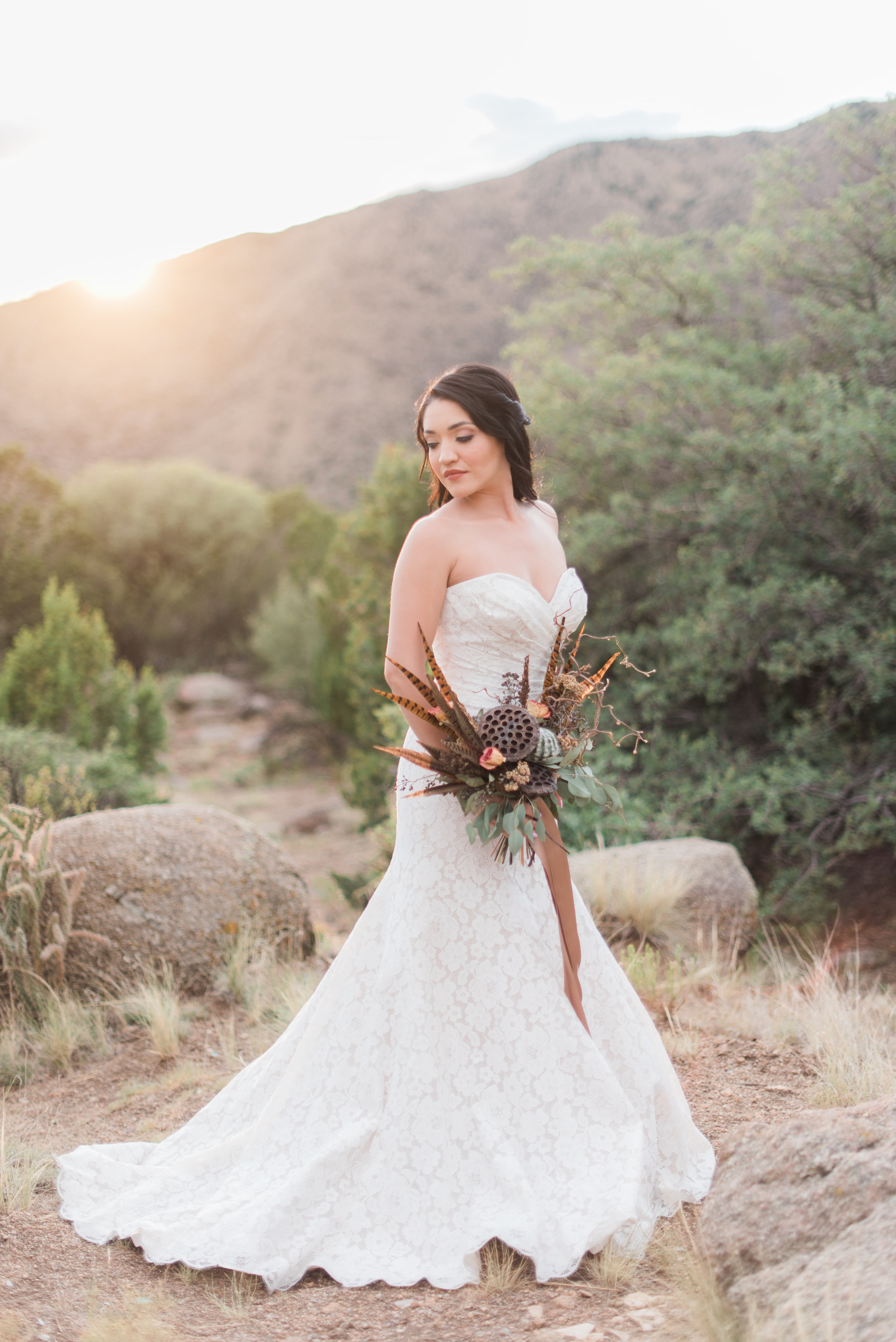 Editorial: Published online & in print. New Mexico Perfect Wedding Guide. Photographer: Briana Nicole Photography. Sandia Foothills, New Mexico.