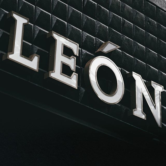 Pictured here the facade and signage design for @leon_jakarta , part of our branding and art direction service.