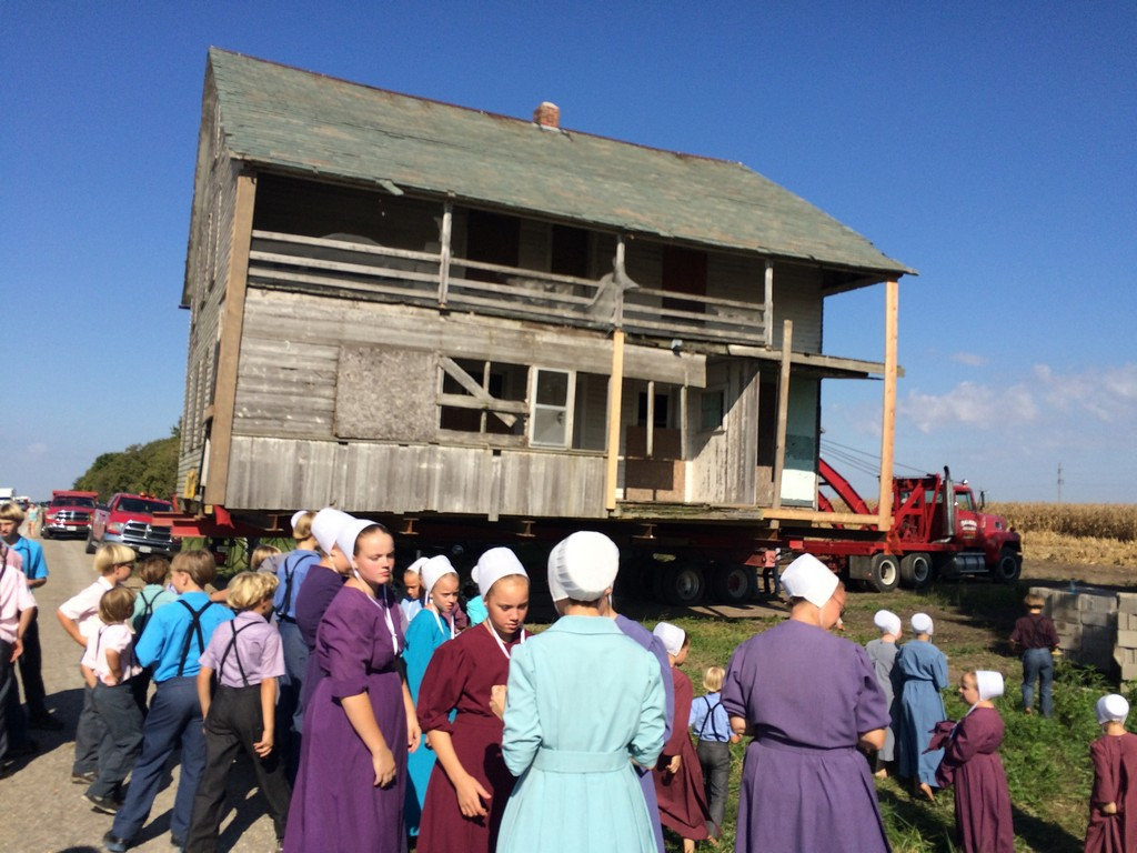 The Schrock house arriving at the IAHC on September 20, 2016.