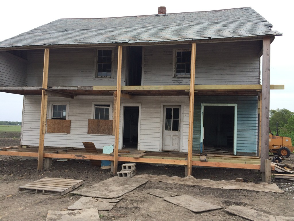 The house is currently under restoration. The house has unusual two-story porches which will be returned to their original configuration.