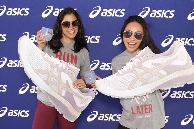 Stepping into the weekend with our bestie, rosé, and @asics limited edition rosé sneakers. 👯‍♀️🥂🌴 What are you up to this weekend?